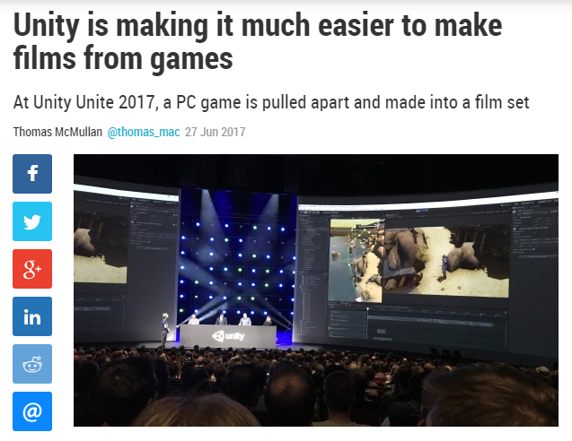 Unity is making it much easier to make films from games