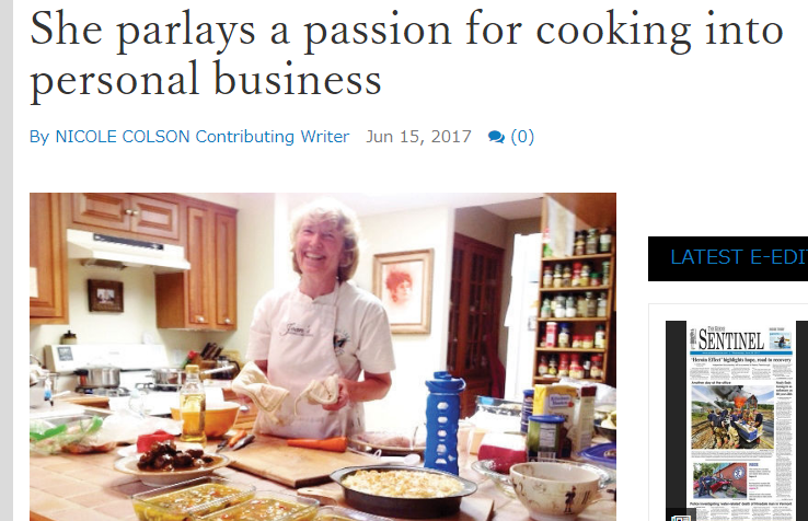 She parlays a passion for cooking into personal business