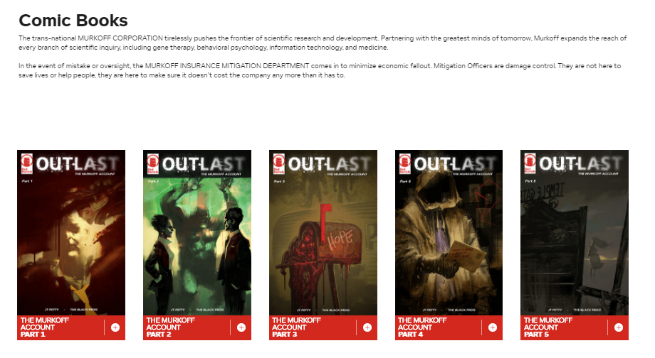 Comic Books - OUTLAST THE MURKOFF ACCOUNT