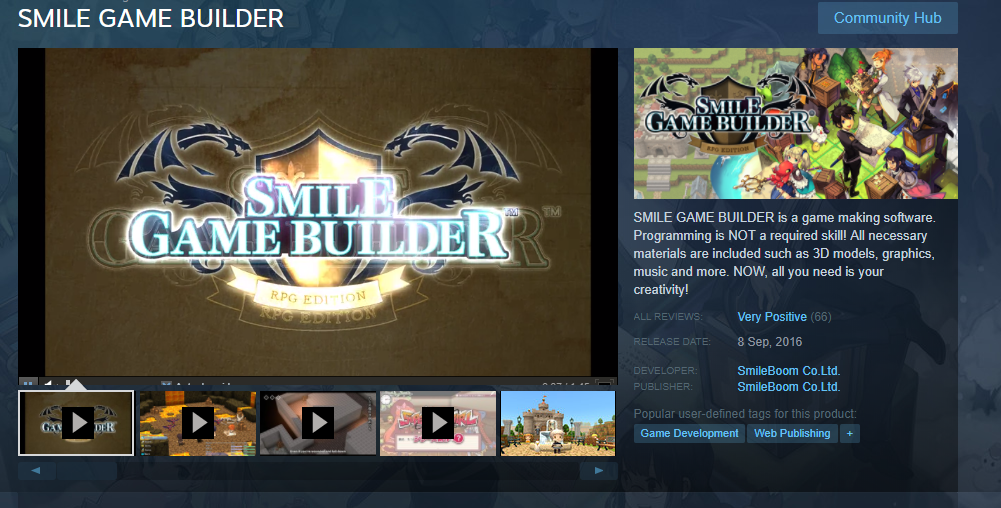 SMILE GAME BUILDER Steam